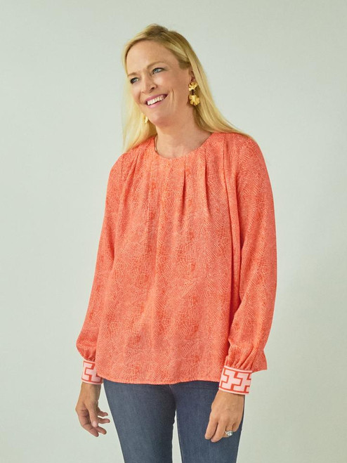 Cheshire Blouse - Pink Coral