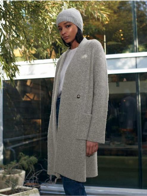 Plush Melange Luxe Coat - Grey Heather