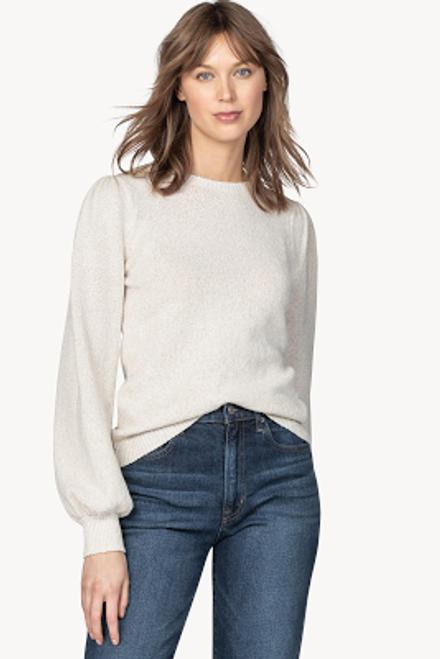 Puff Sleeve Crewneck Sweater - Coconut