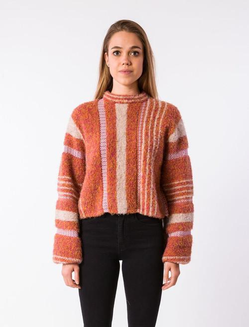 Gramercy Sweater - Rust Multi