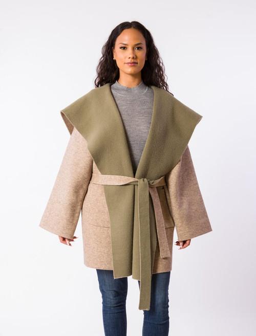 Edith Coat - Taupe/Olive