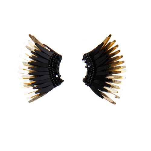 Mini Madeline Earrings - Black/Gold