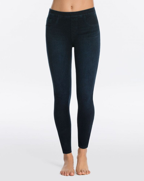 Jean-ish Ankle Leggings - Twilight Rinse