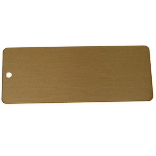 Lacquered Brass Tag Large Rectangle - Blank