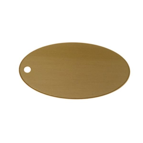 Lacquered Brass Oval Tag 2.5 Inch x 1.375 Inch - Blank