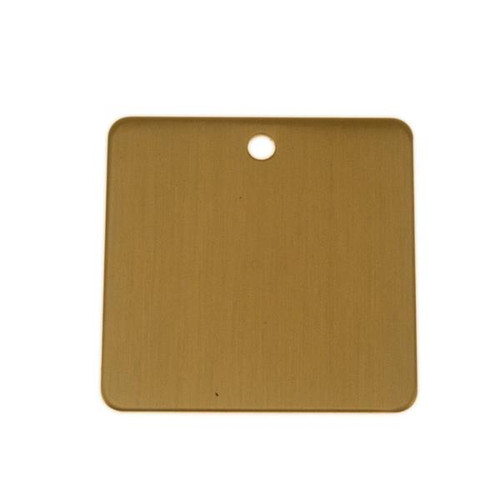 Lacquered Brass Tag 1.75 Inch Square - Blank