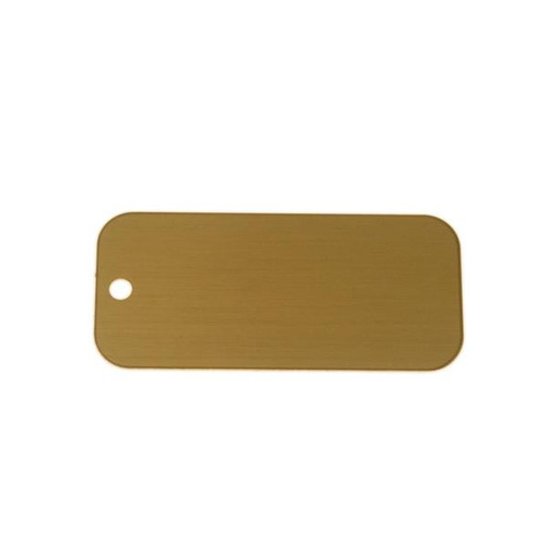 Lacquered Brass Tag Rectangle - Blank
