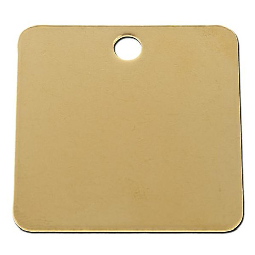 1.5 INCH SQUARE BRASS TAG - .040 Thickness