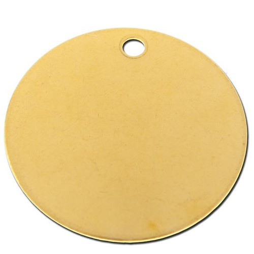 2 INCH ROUND BRASS TAG - .040 inch Thickness