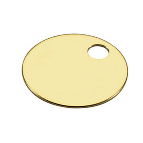 .060 inch Thickness Brass Key Tag 1-1/4 Inch Diameter