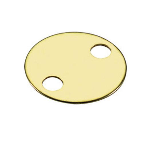 .060 inch Thickness Brass Key Tag 2 Holes 1.25 Inch Diameter