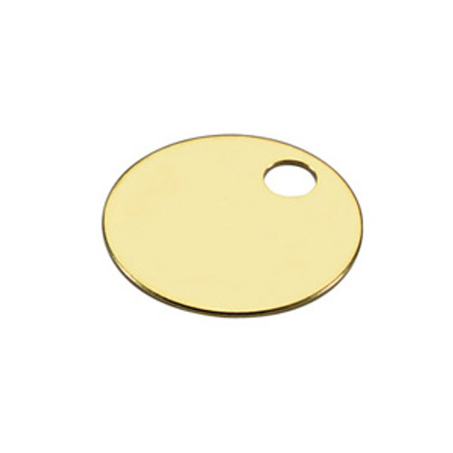 .025 inch Thickness Brass Key Tag 1 Inch Diameter