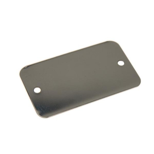 STAINLESS STEEL Tag 1.25 Inch x 2.125 Inch .029 Inch Thick - 2 HOLES