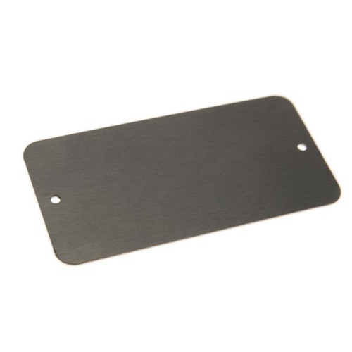 STAINLESS STEEL Tag 1.5 Inch x 3 Inch .029 Inch Thick - 2 Holes