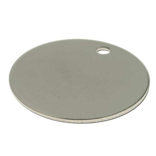 Stainless Steel Round Key Tag 1-1/4 Inch Diameter - BLANK