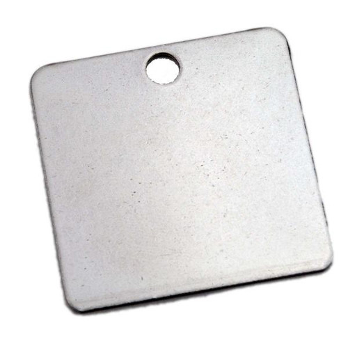 Stainless Steel Square Key Tag 1.5 Inch