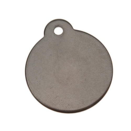 1.25 Inch Stainless Steel Tag with Ear-BLANK