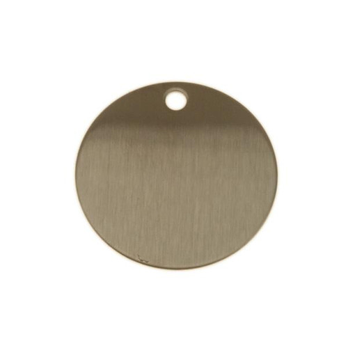 1.5 Inch Round Stainless Steel Tag - BLANK