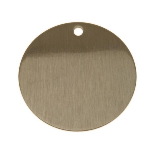 2 Inch Round Stainless Steel Tag - BLANK