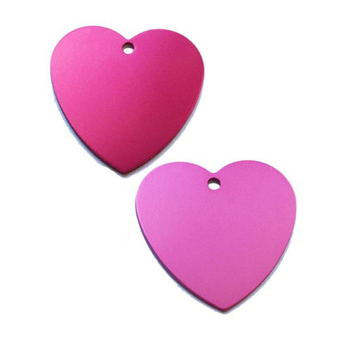 XL Heart Shape Anodized Aluminum Tag