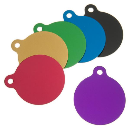Large Round Aluminum Tag with Ear 1-1/2 Inch -BLANK