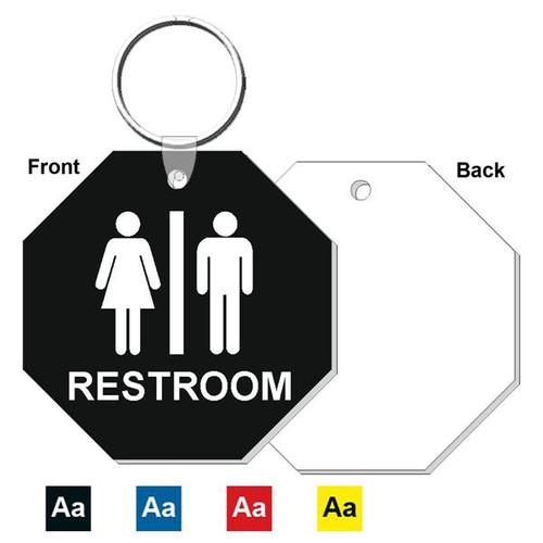 3 Inch Octagon Restroom Keytag