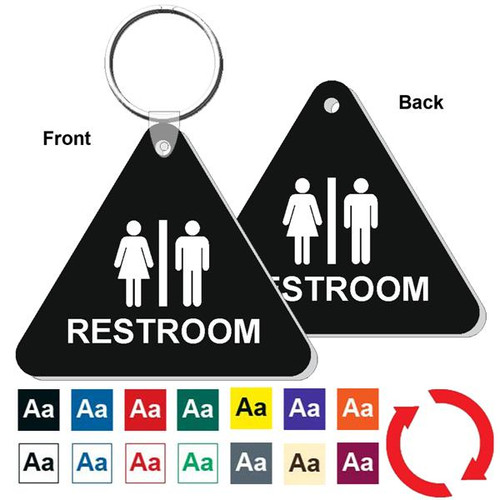 Double Sided Triangle Restroom Keytag