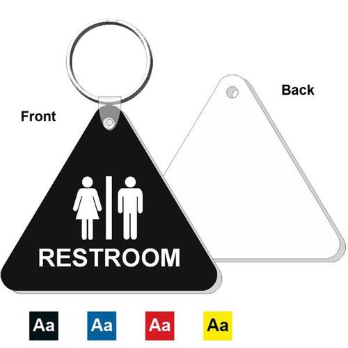 Triangle Restroom Keytag