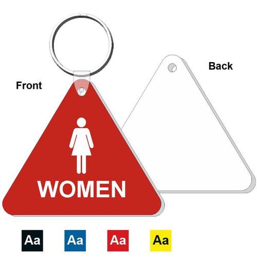 Triangle Womens Restroom Keytag