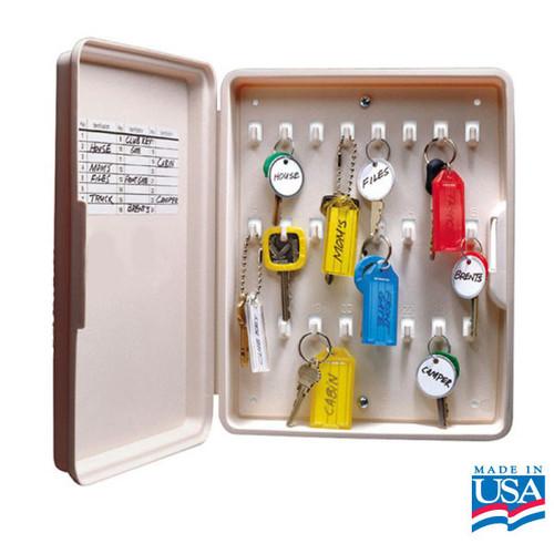 24 Hook Plastic Key Organizer Box