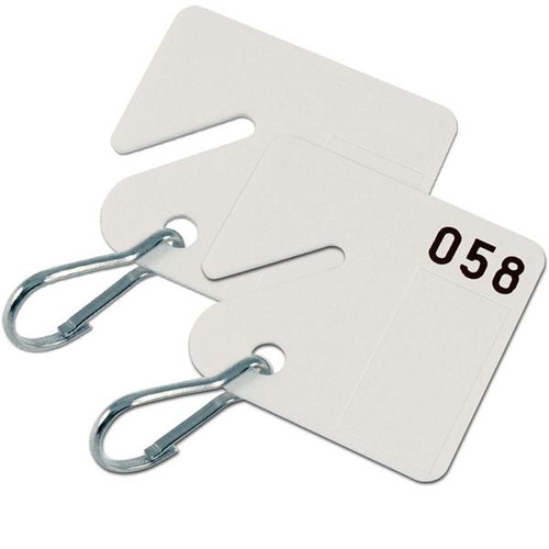 Numbered Slotted Tags for Key Cabinets-20 Pack