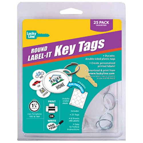 Round 1 Hole Label-It Tags WHITE ONLY 25 Tag Starter Pack (with labels)