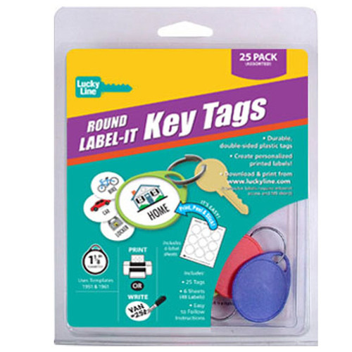 Round 1 Hole Label-It Tags Assorted Colors 25 Tag Starter Pack (with labels)