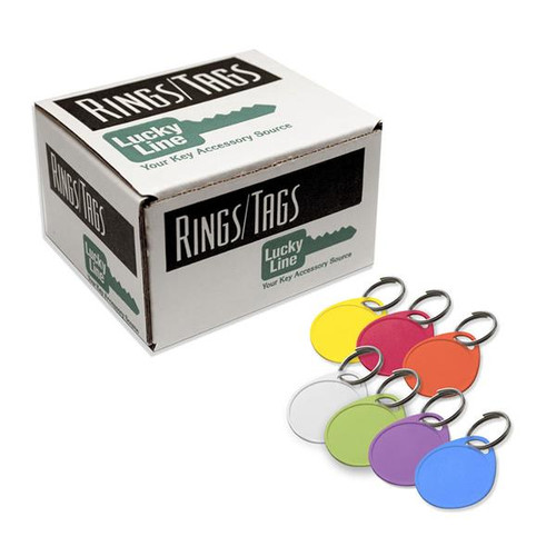 Round 1 Hole Label-It Tags 100 Pack Assorted Colors (NO Labels Included)