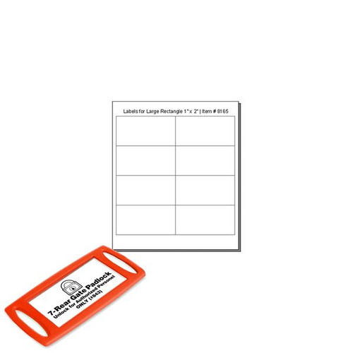CLEAR Cover Labels For 8165 LARGE Rectangle Tags - 8 Labels to a Sheet - Pack of 12 Sheets