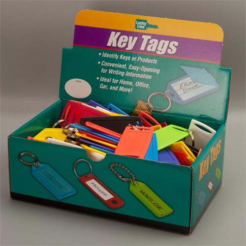 Large Rectangle Label-It Tags 100 Pack Assorted Colors (NO Labels Included)