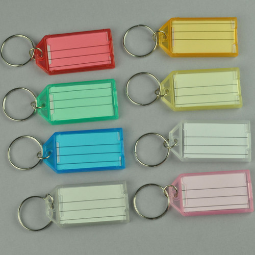 Key Identifier Tag Click Open Keytag with Keyring - Pack of 8