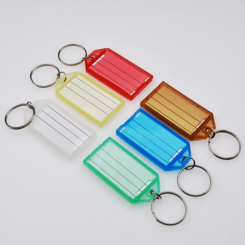 Key Identifier Tag Click Open Keytag with Keyring - Each by Color