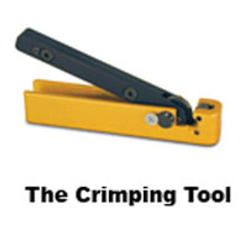 Side image Tamper Proof Key Ring Yellow Crimp and Seal Tool. Needed to permanently close and create the tamper proof seal.