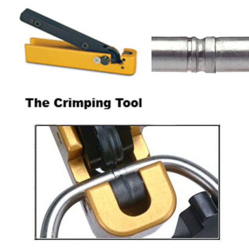 Tamper Proof Key Ring Yellow Crimp and Seal Tool. Needed to permanently close and create the tamper proof seal.