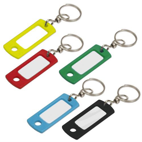 Key Identifier Tag Plastic Keytag with Swivel Key Ring - Each by Color