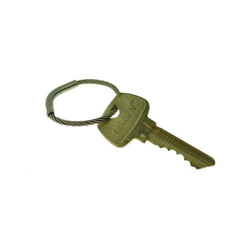 Flexible Stainless Steel Cable Tamper Proof Key Ring 1 Inch Diameter. Type 303SE stainless steel construction for durability. Each keyring has a unique serial number. Permanent closure makes the ring tamper proof. Will fit through most standard key holes. Key management and security