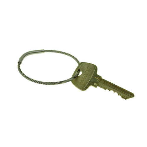 Flexible Stainless Steel Cable Tamper Proof Key Ring 2 Inch Diameter. Type 303SE stainless steel construction for durability. Each keyring has a unique serial number. Permanent closure makes the ring tamper proof. Will fit through most standard key holes. Key management and security