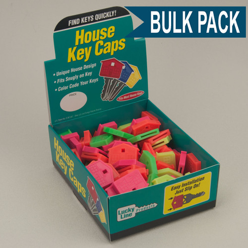 House Shape Key Identifier Caps USA MADE 100/Box ASSORTED NEON Colors