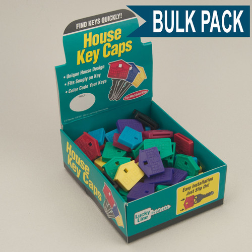 House Shape Key Identifier Caps USA MADE 100/Box ASSORTED Standard Colors