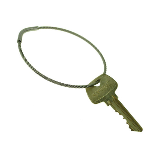 Flexible Stainless Steel Cable Tamper Proof Key Ring 3 Inch Diameter. Type 303SE stainless steel construction for durability. Each keyring has a unique serial number. Permanent closure makes the ring tamper proof. Will fit through most standard key holes. Key management and security