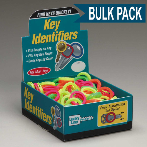 Medium Key Identifier Rings USA MADE 200/Box ASSORTED Neon Colors