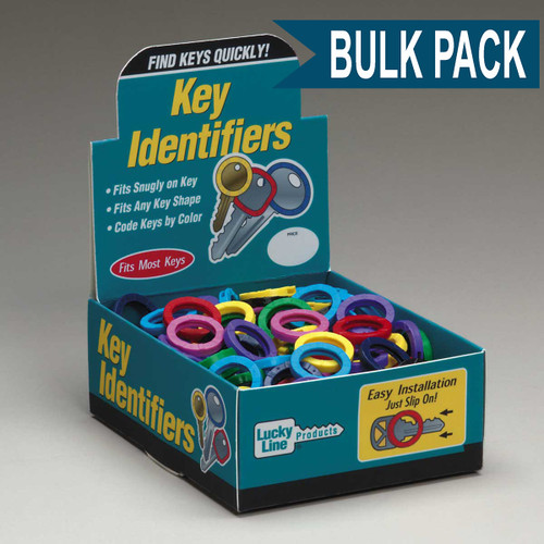 Medium Key Identifier Rings USA MADE 200/Box ASSORTED Standard Colors