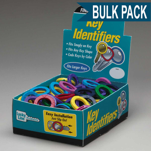Large Key Identifier Rings USA MADE 150/Box ASSORTED Standard Colors