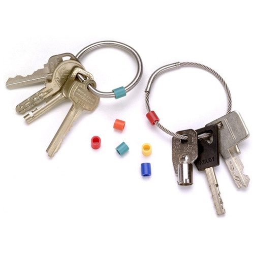 Plastic Color Coding Rings for Tamper Proof Keyrings. Sort and organize by assorted color.
